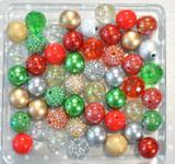 Christmas Silver and Gold bubblegum bead wholesale kit