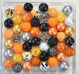 Halloween Splatter bubblegum bead wholesale kit