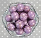 Whole Bag 20mm Lt purple gold scale bubblegum beads
