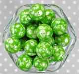 Whole Bag 20mm Skulls on Green bubblegum beads
