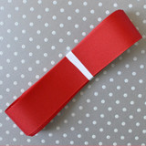"""1.5"""" Offray Red solid color grosgrain ribbon."""