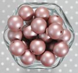 20mm Brown matte pearl bubblegum beads