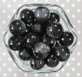 20mm Licorice Drop bubblegum beads