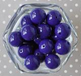20mm Dark royal blue solid bubblegum beads