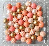 Peach and gold chunky bubblegum bead wholesale kit