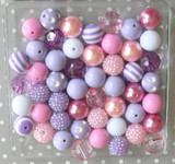 Lilac and pink chunky bubblegum bead wholesale kit