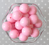 20mm Pink solid bubblegum beads