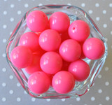 20mm Neon pink solid chunky bubblegum beads