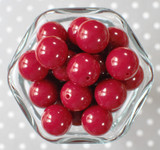 20mm Cranberry red solid bubblegum beads