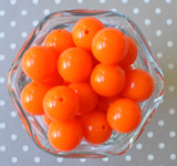 20mm Orange solid chunky bubblegum beads