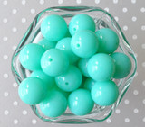 20mm bright aqua plastic chunky acrylic beads for children's jewelry