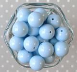 20mm Cornflower blue solid bubblegum beads