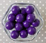 20mm Royal purple solid chunky bubblegum beads