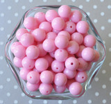 12mm Pink solid bubblegum beads - Small beads for chunky style necklaces