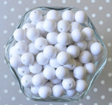 12mm White solid bubblegum beads for chunky necklaces