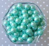 12mm Aqua pearl chunky bubblegum beads
