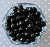 12mm Black pearl bubblegum beads