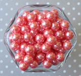 12mm Coral rose pearl bubblegum beads