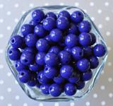 12mm Dark royal solid small chunky bubblegum beads