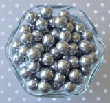 12mm Grey pearl small chunky bubblegum beads