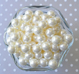 12mm Ivory pearl small chunky bubblegum beads