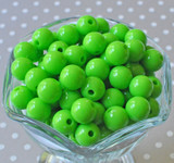 Lypple lime green solid bubblegum beads