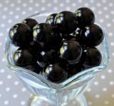 20mm Black pearl bubblegum chunky beads wholesale
