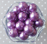20mm Chalk violet pearl bubblegum beads
