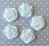 42mm White resin flower beads for chunky necklaces