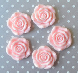 42mm Light Pink resin flower beads for chunky necklaces