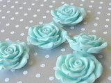 42mm Aqua resin flower beads