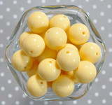 20mm Banana yellow solid bubblegum beads