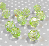 20mm Lime green faceted bubblegum beads