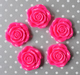 42mm Shocking pink resin flower beads wholesale