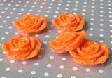 42mm Orange extra large resin flower beads
