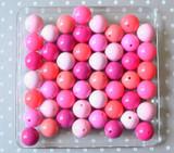 Pink solids bubblegum bead variety mix
