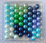 Blue and green pearls bubblegum bead wholesale variety mix