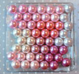 Pink, ivory, and white pearls bubblegum bead wholesale variety mix