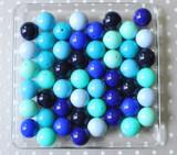 Shades of blue solids bubblegum bead variety mix