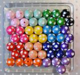 Polka dot bubblegum bead wholesale variety mix