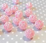 20mm Pink Grapefruit AB rhinestone bubblegum beads wholesale