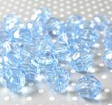 20mm Copen blue faceted bubblegum beads
