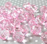 20mm Hot pink faceted bubblegum beads