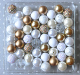 Gold and white bubblegum bead wholesale kit