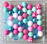 Fuchsia and turquoise bubblegum bead wholesale kit