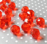 20mm Red faceted bubblegum beads