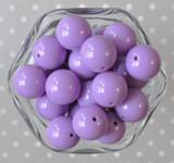 20mm Lilac purple solid bubblegum beads
