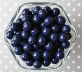 12mm Dark navy blue solid small bubblegum beads in bulk