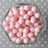 12mm Light pink solid small bubblegum beads in bulk