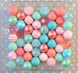 Coral and Aqua Summer Splash bubblegum bead wholesale kit